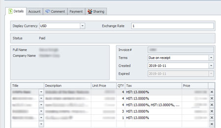 infoflocrm_invoice_details_screenshot