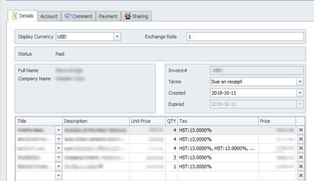 infoflocrm_invoice_details_screenshot