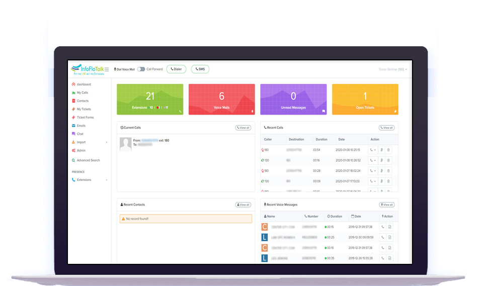 InfoFlo Talk Dashboard